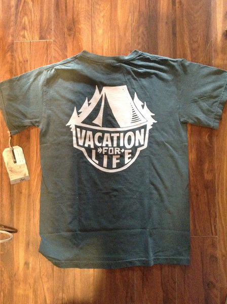 Vacation For Life - Camp T Shirt Green