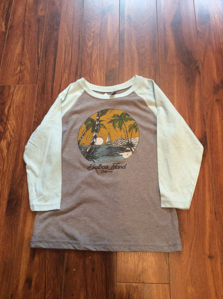 Girl's Slub Baseball T-Shirt
