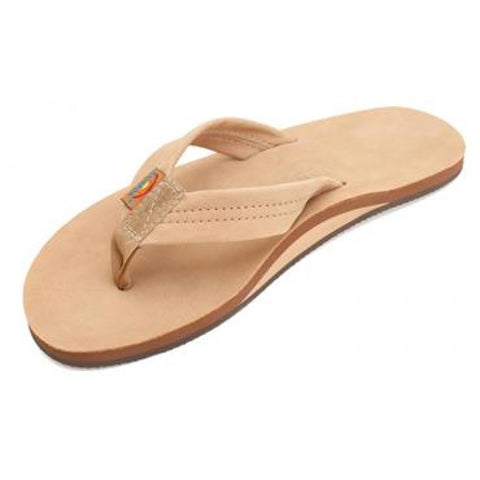 Rainbow Single Layer Premium Leather (Wide) - Women's Sandals
