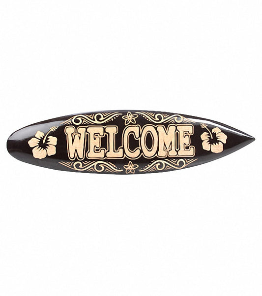 Surfboard 'Welcome' Sign