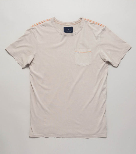 Roark Well Worn Pocket Tee- Off White