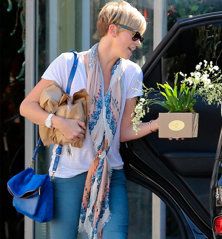 Charlize Theron wears Vassilisa scarf in Hollywood
