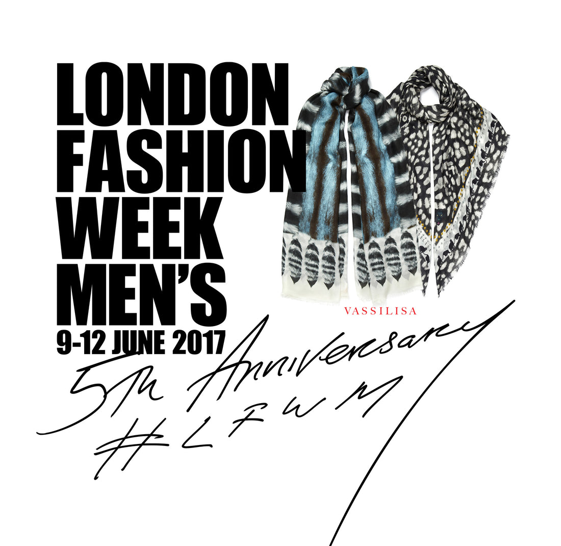VASSILISA scarves at LFW Men's