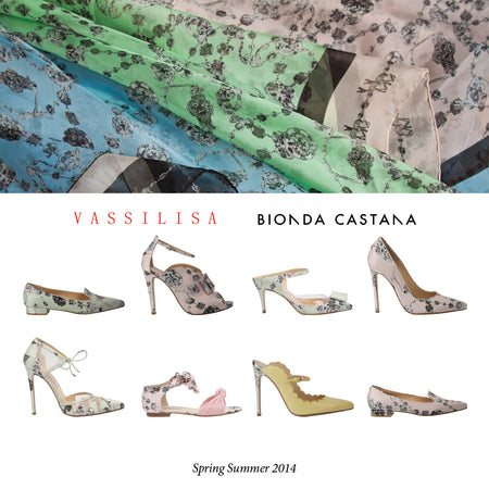 Vassilisa Vassilisa luxury printed shoes collaboration, made in Italy