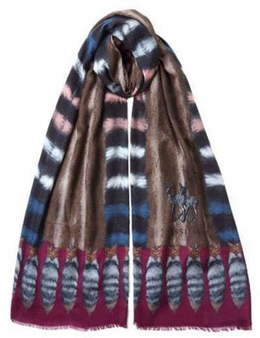 Scarf Tails Brown and Burgundy XL