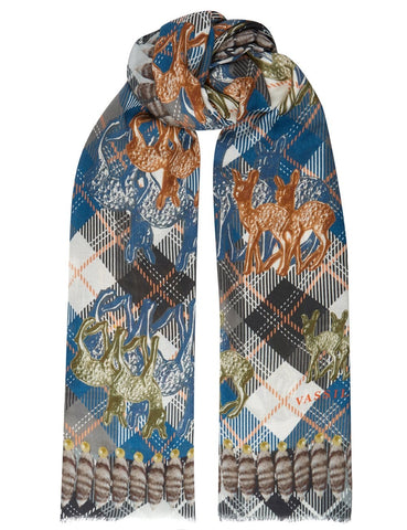 Bambi and tartan scarf - VASSILISA | luxury made in Italy