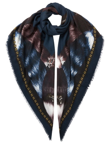 Fox Scarf Royal Blue - VASSILISA