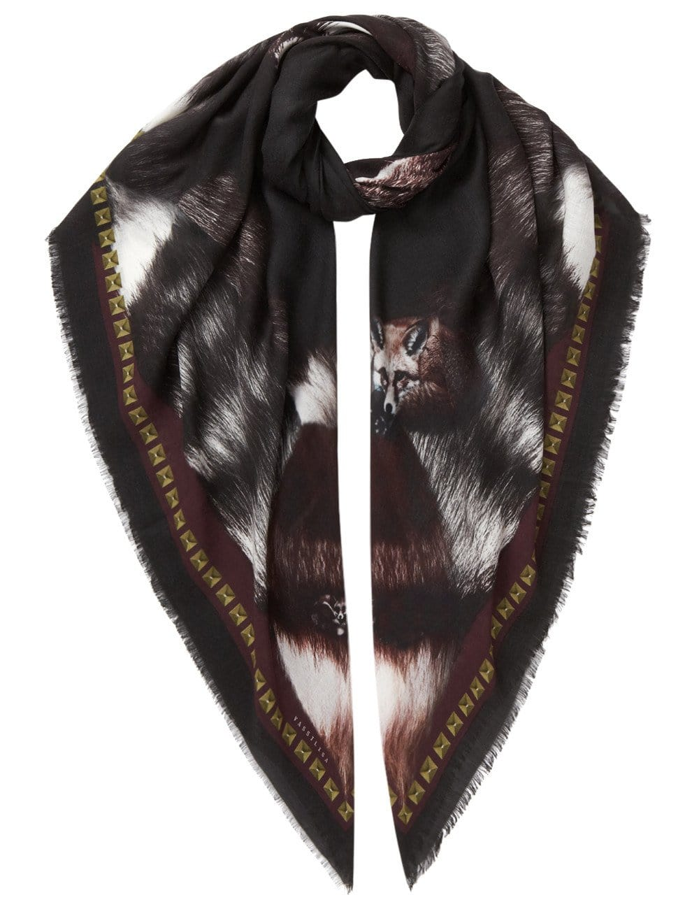 Fox scarf black