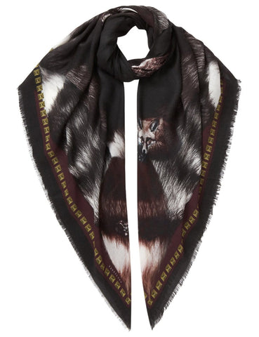 Fox Scarf Black - VASSILISA