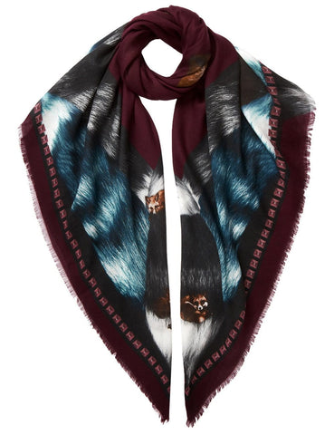 Fox Scarf Burgundy