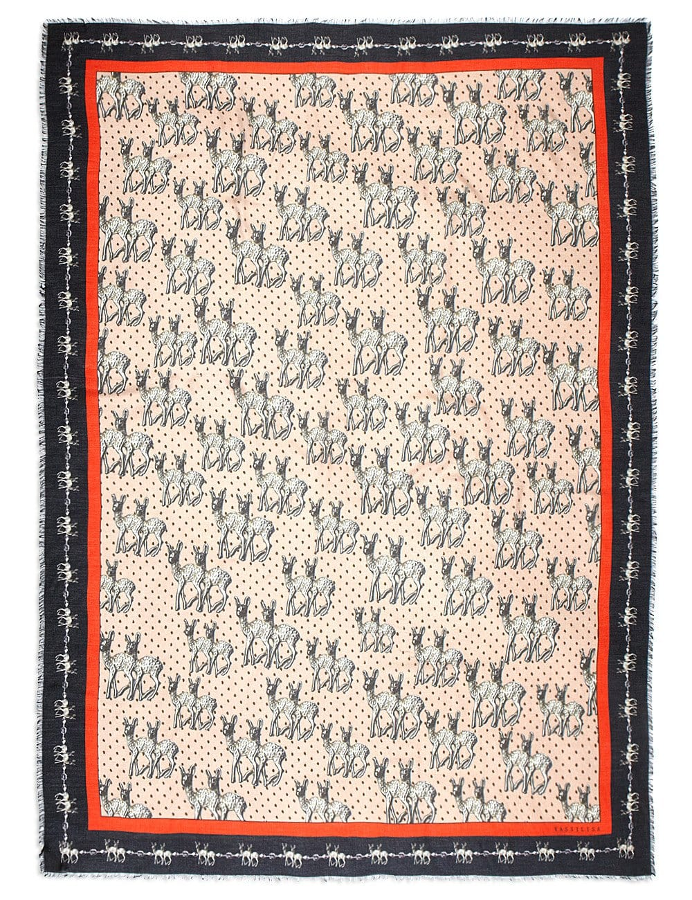 Vassilisa: Bambi scarf beige xl | Accessories > Scarves,Accessories -  Hiphunters Shop