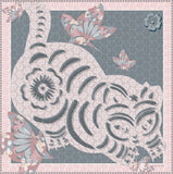 Cat Print Scarf Powder Pink - VASSILISA