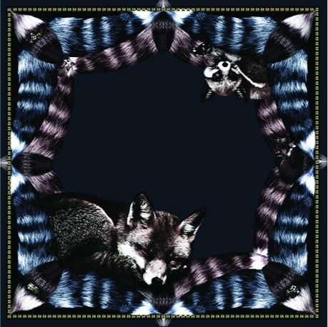 Vassilisa: Fox scarf royal blue | Accessories > Scarves,Accessories -  Hiphunters Shop