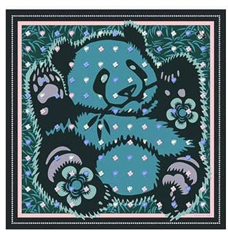 Vassilisa: Panda scarf teal colour | Accessories > Scarves,Accessories -  Hiphunters Shop
