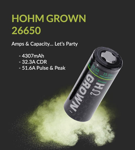 HohmTech HohmGrown 26650 Battery