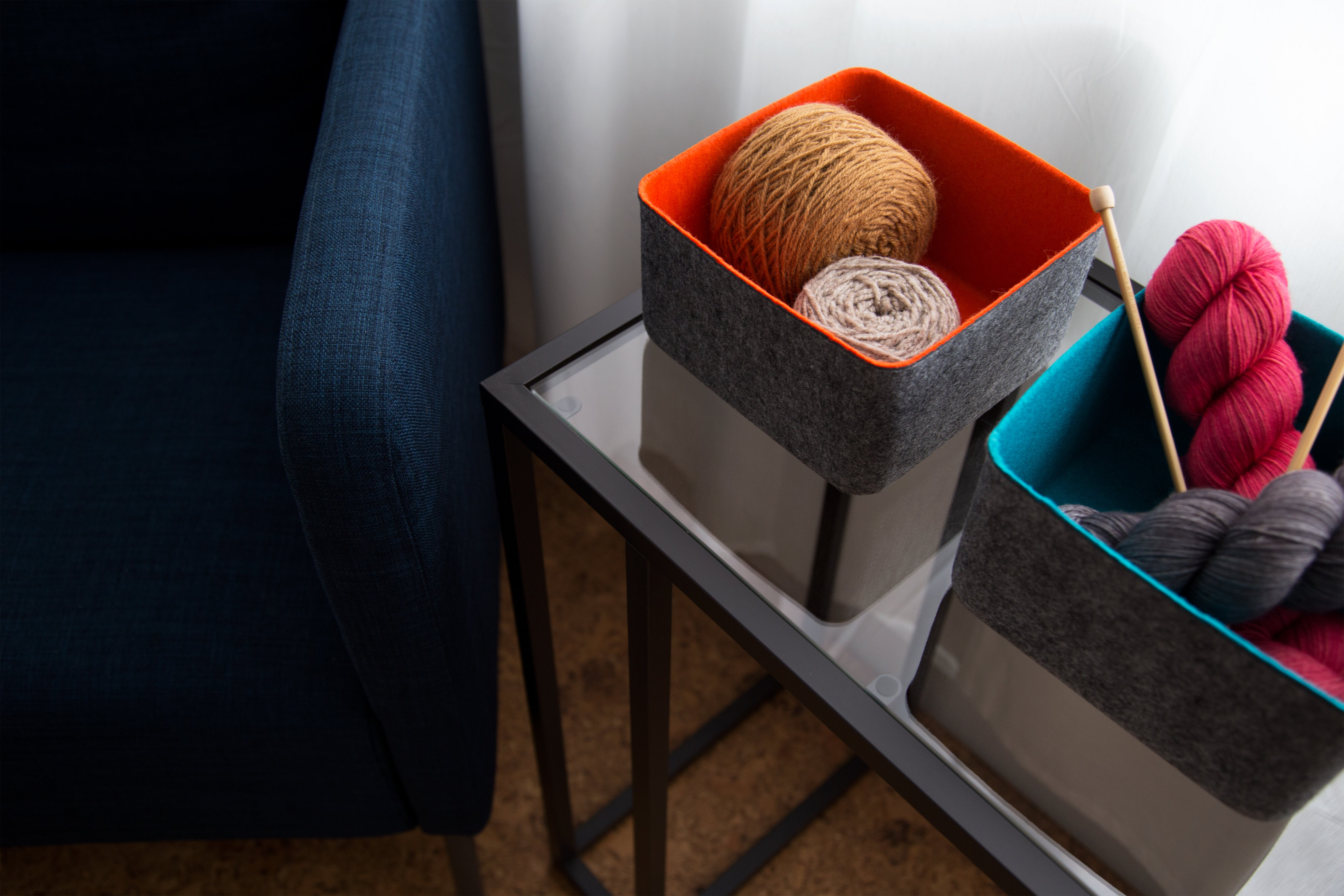 felt-like-it! felt storage bins