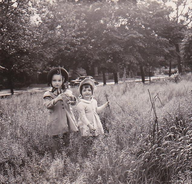 girls in a field