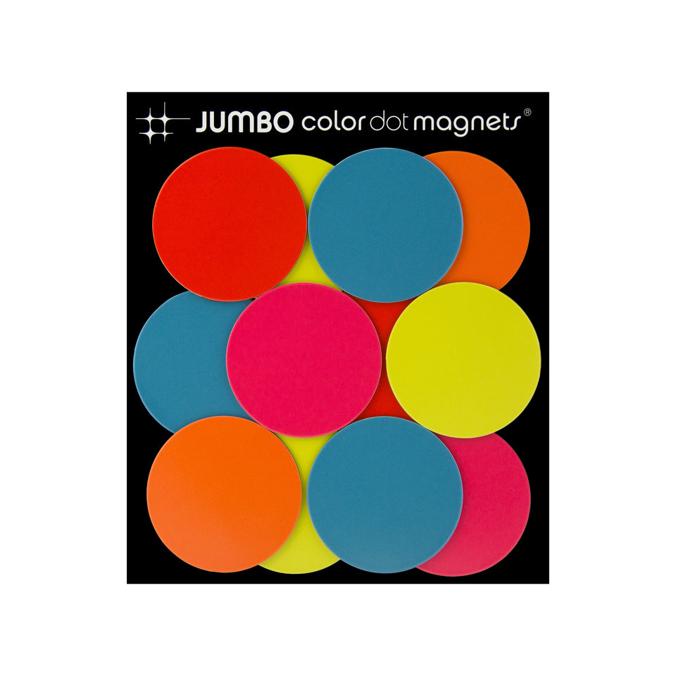 JUMBO color dot magnets