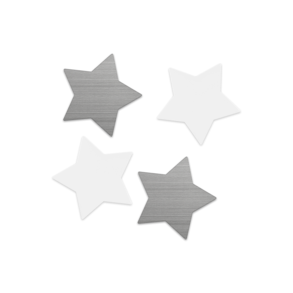 shape·up! metal magnets | stars
