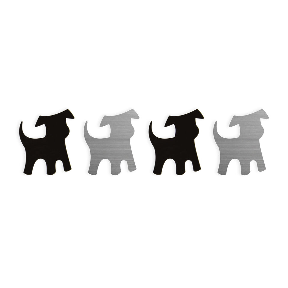 shape·up! metal magnets | dogs
