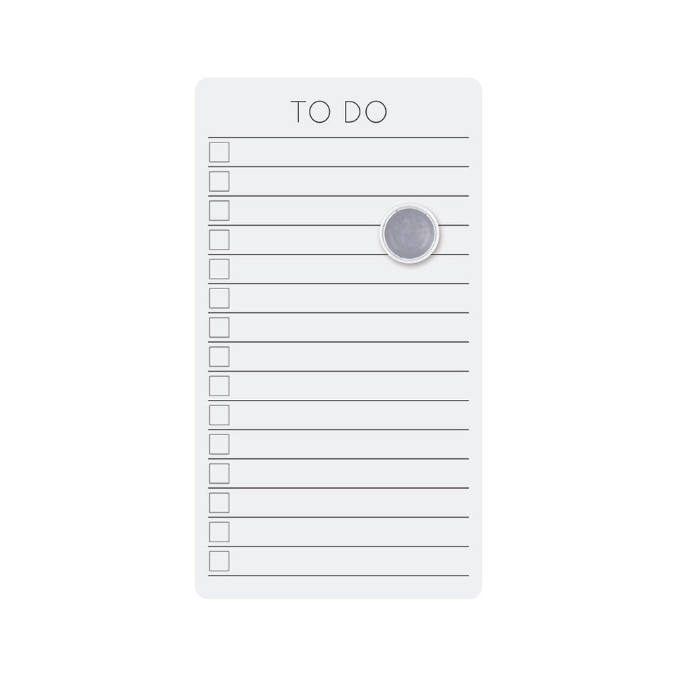 magnetic dry erase TO-DO board