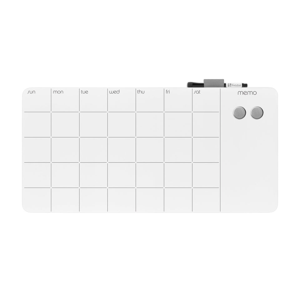 glass monthly planner