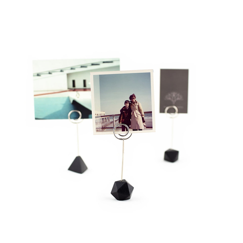 polyhedra photo+card stands