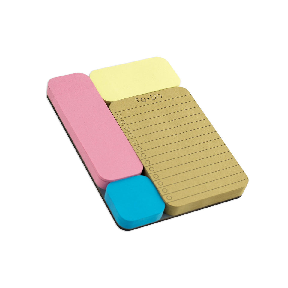 jOTBLOCK™ STICKY NOTE SET/4 + FELT BASE