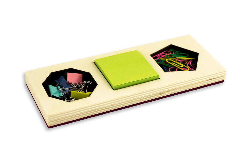 wood+felt office supply sets