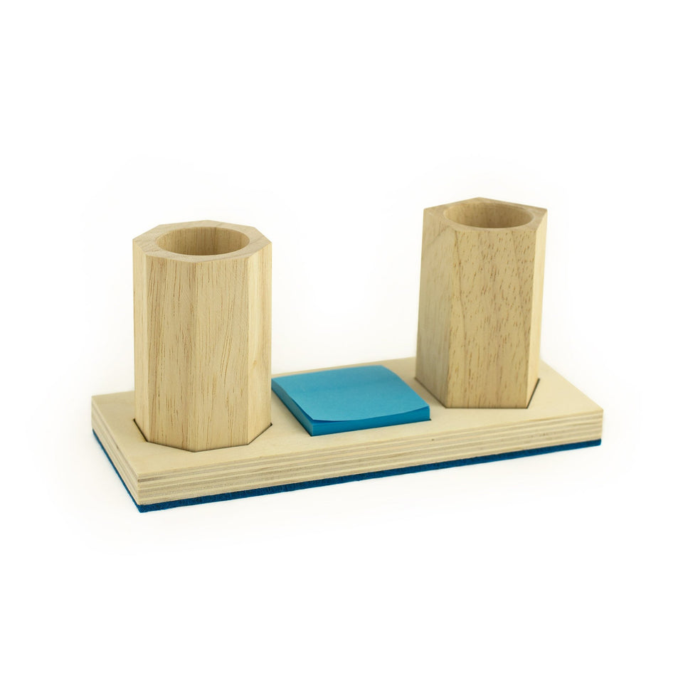 wood+felt desktop set with cups