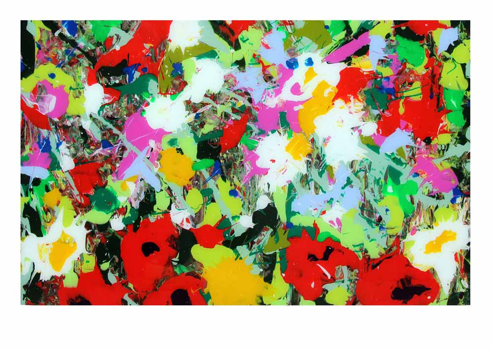 Wild Flowers - acrylic and glass