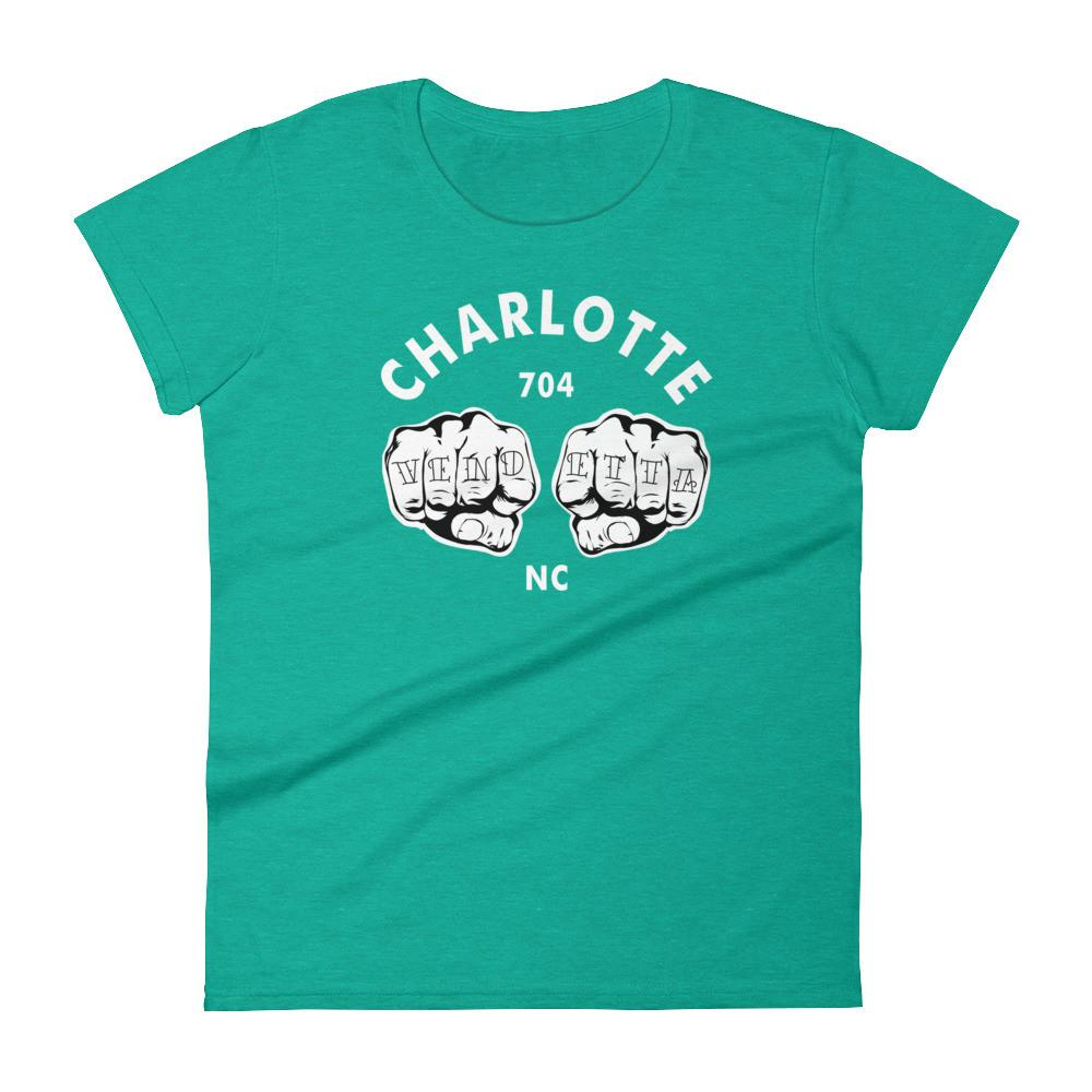 Women's short Charlotte Fists sleeve t-shirt