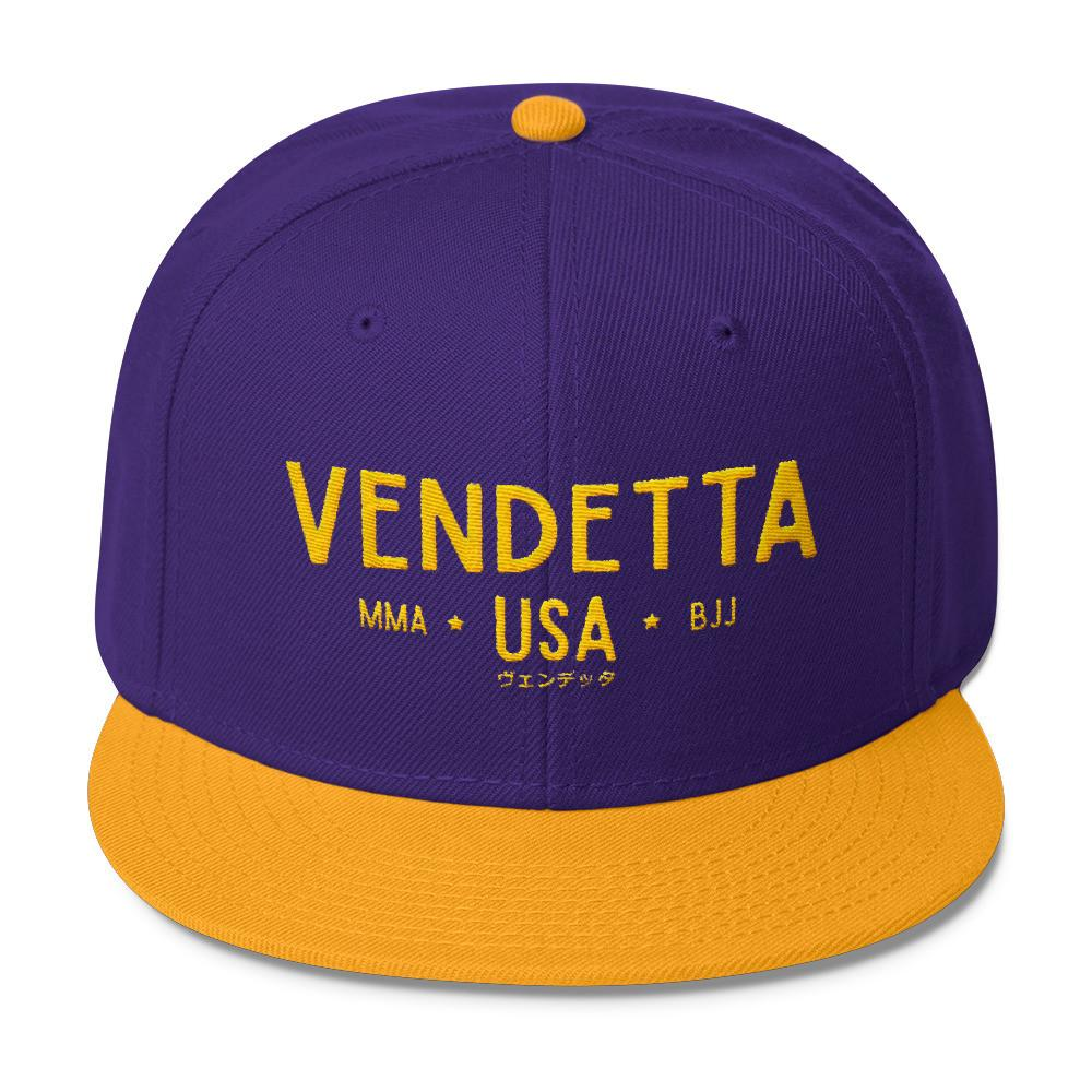 VENDETTA MMA BJJ USA Wool Blend Snapback