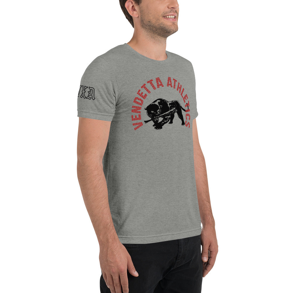 VENDETTA Men's Black Panther Triblend Short Sleeve T-Shirt