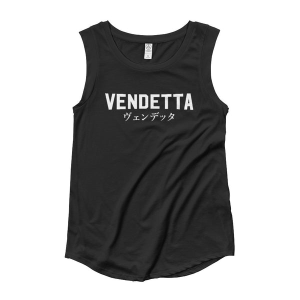 Ladies 'VENDETTA Japanese Cap Sleeve T-Shirt