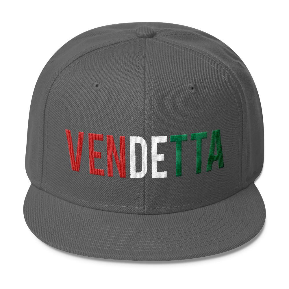 VENDETTA Italian Flag Wool Blend Snapback