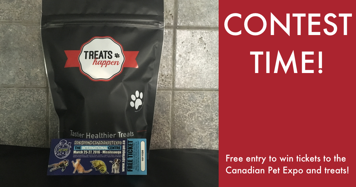 Contest Time! Win one of three pairs of tickets to the 2016 Canadian Pet Expo or one of three bags of treats