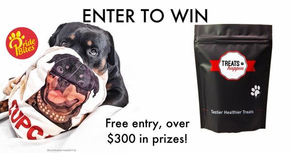 PrideBites Customizable Pet Products and Treats Happen Collaboration. Win over $300 in prizes