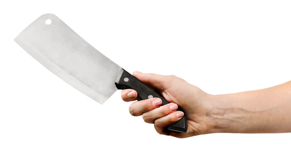Meat cleaver for raw dog food