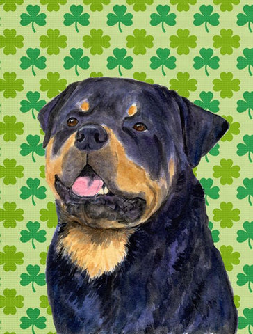 St. Patrick's Day rottweiler print