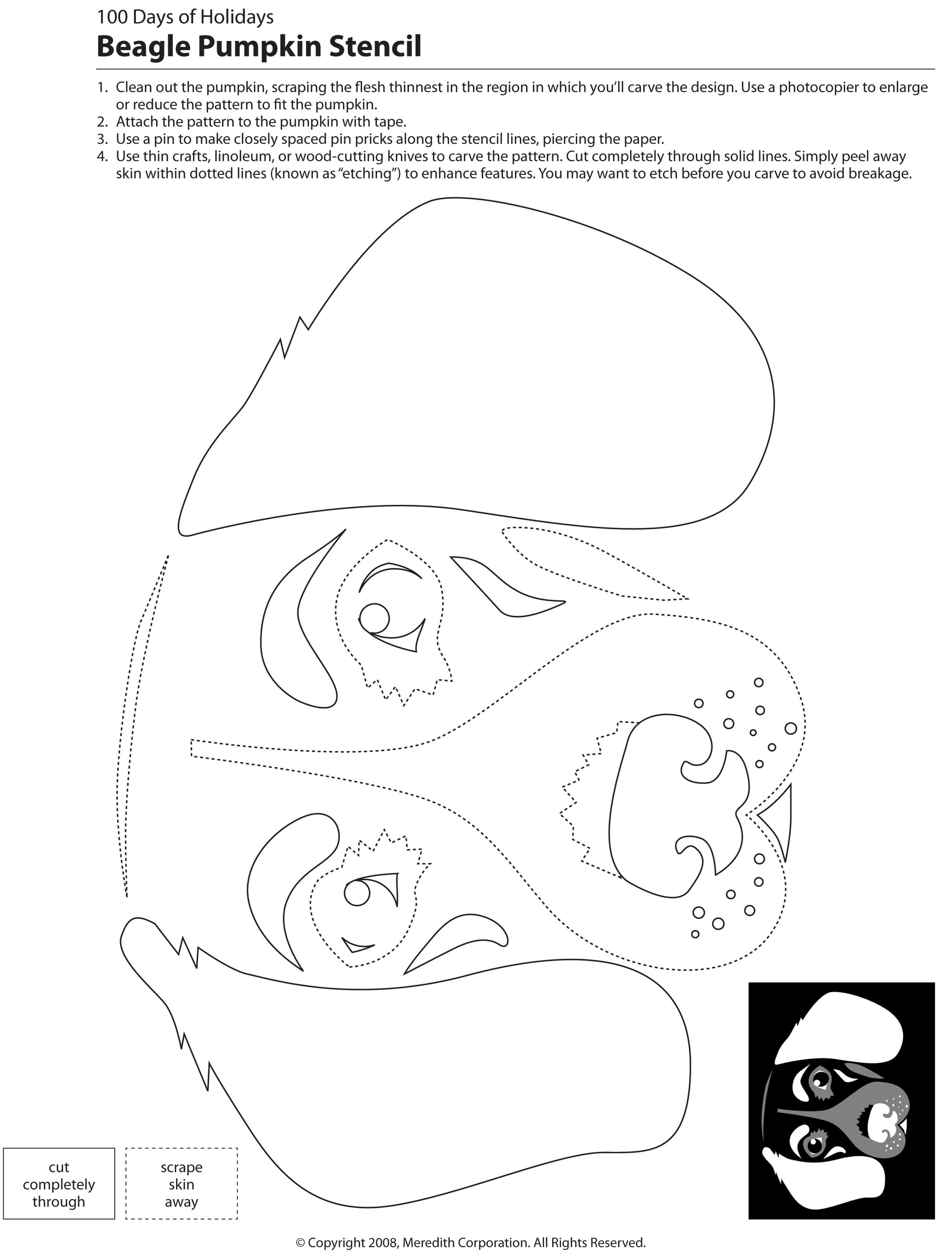 image about Printable Dog Stencils named 22 Absolutely free Pumpkin Carving Pet Stencils (Breed Particular person