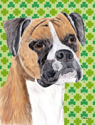 St. Patrick's Day Boxer dog Print by Wayfair