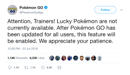 Lucky Pokemon in Pokemon GO