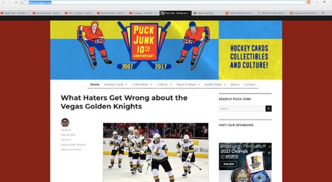 8 Must Follow Hockey Card Blogs and YouTube Channels