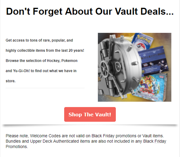 Save on Vault Items!