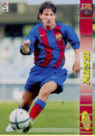 Messi First Soccer Card