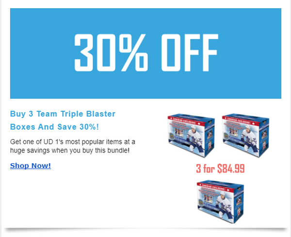 Save 30% Off team triple bundle