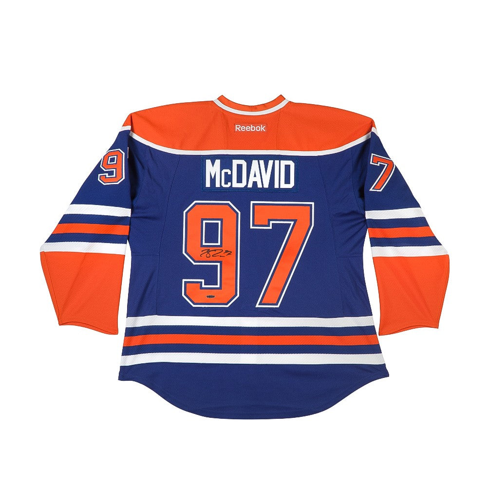 newest 7112d 2044e Connor McDavid Autographed Authentic Edmonton Oilers Blue Jersey with  Captain and Inaugural Patches