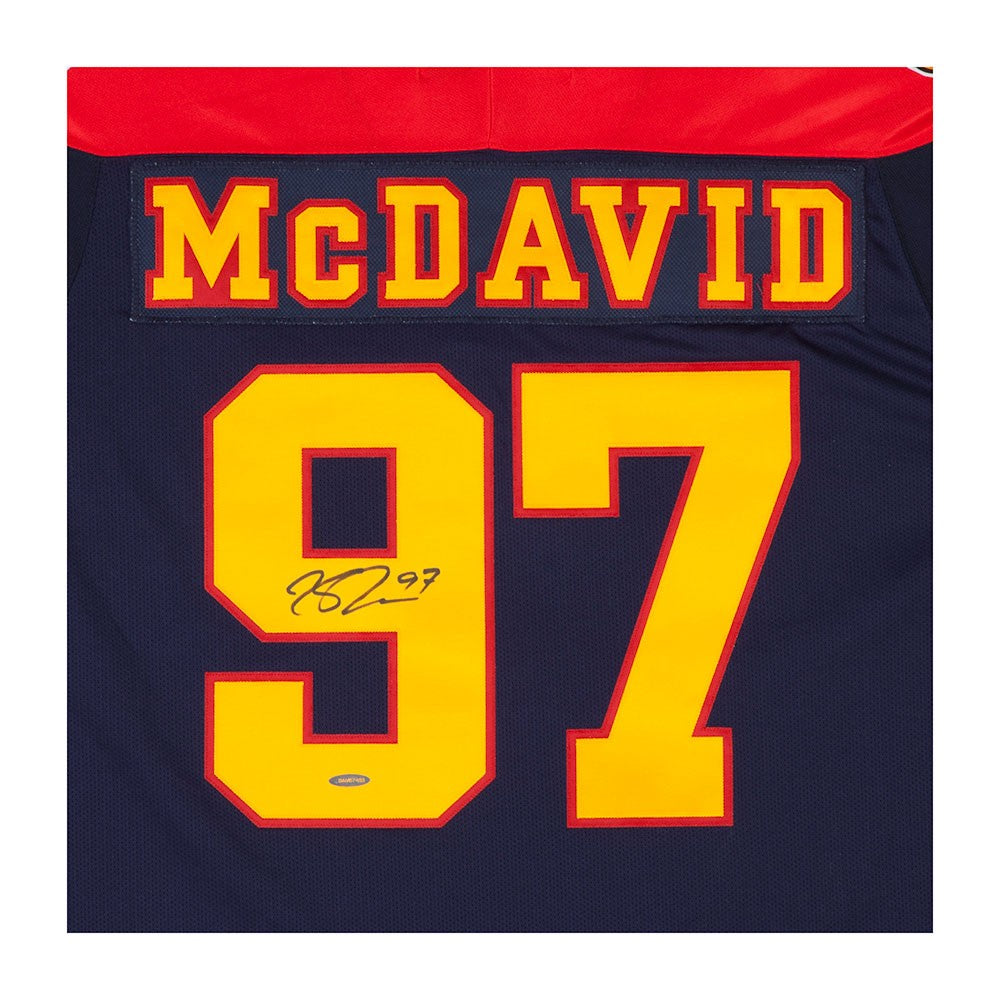 superior quality 5dbc5 7fbb7 Connor McDavid Autographed Erie Otters Jersey
