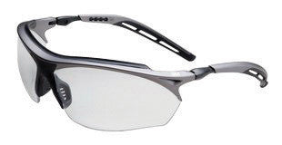 3M Maxim GT Safety Glasses With Metallic Gray And Black Nylon Frame And Clear Polycarbonate Anti-Fog Lens